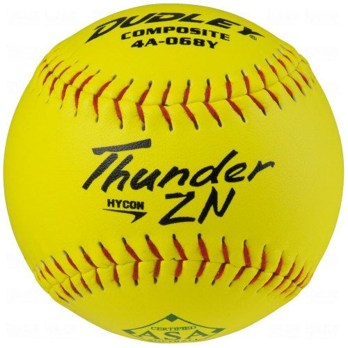 Image for Dudley ASA Thunder Hycon ZN Slow Pitch Softballs from BaseballSavings.com