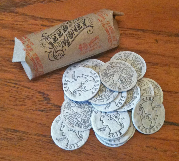 "Seed Money! Brilliant idea and execution....""money"" you plant and grow!"