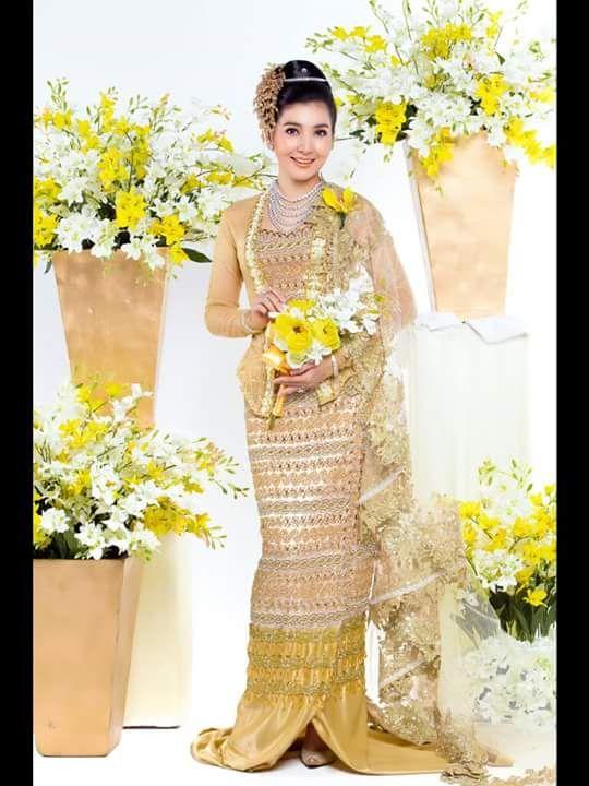 21 best Myanmar wedding dress images on Pinterest | Kimono and Kimonos
