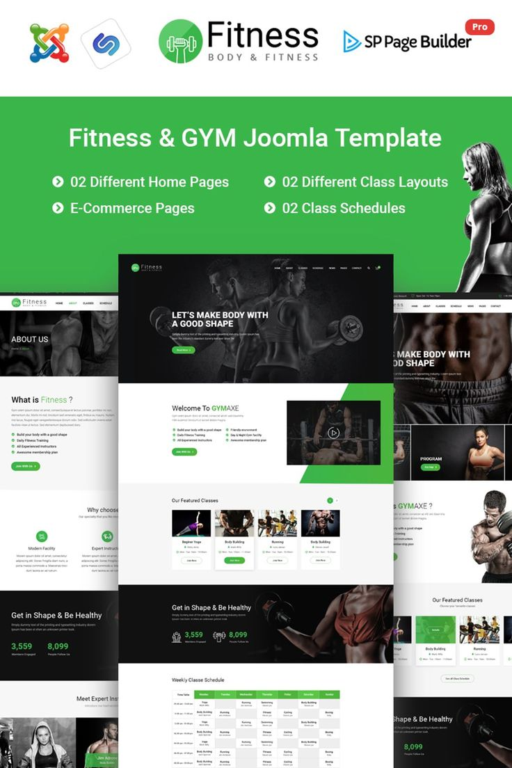 Fitness – Gym Fitness Responsive Joomla Theme Big Screenshot