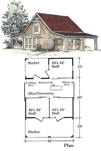 horse barn layout cute loft for hay could have 2 stalls and a - Horse Barn Design Ideas