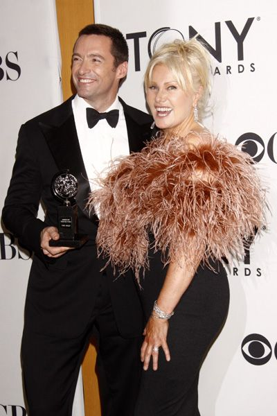 """Hugh Jackman and his wife Deborra-Lee Furness pose on the red carpet at the 2012 Tony Awards on June 10. Jackman received a Special Tony Award for his """"contributions to the Broadway community, both as a performer and humanitarian."""""""