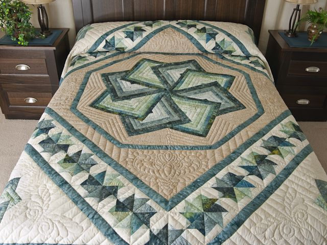 Star Spin Quilt -- splendid cleverly made Amish Quilts from Lancaster (hs6654)