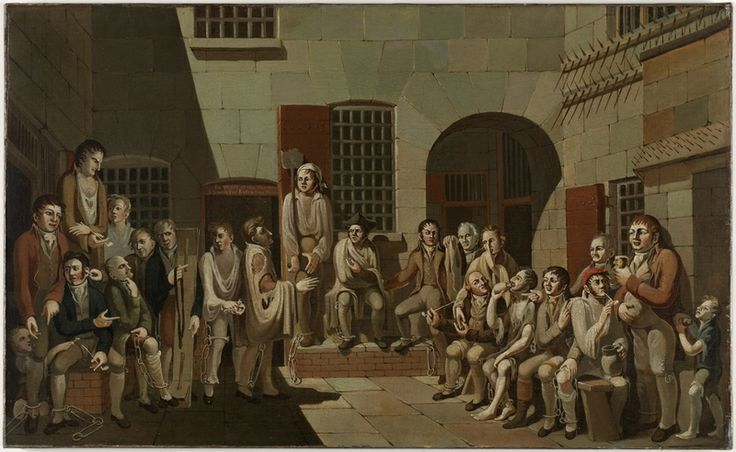 Francis Greenway, The mock trial, 1812. Oil on canvas. Mitchell Library, State Library of New South Wales: http://www.acmssearch.sl.nsw.gov.au/search/itemDetailPaged.cgi?itemID=441844
