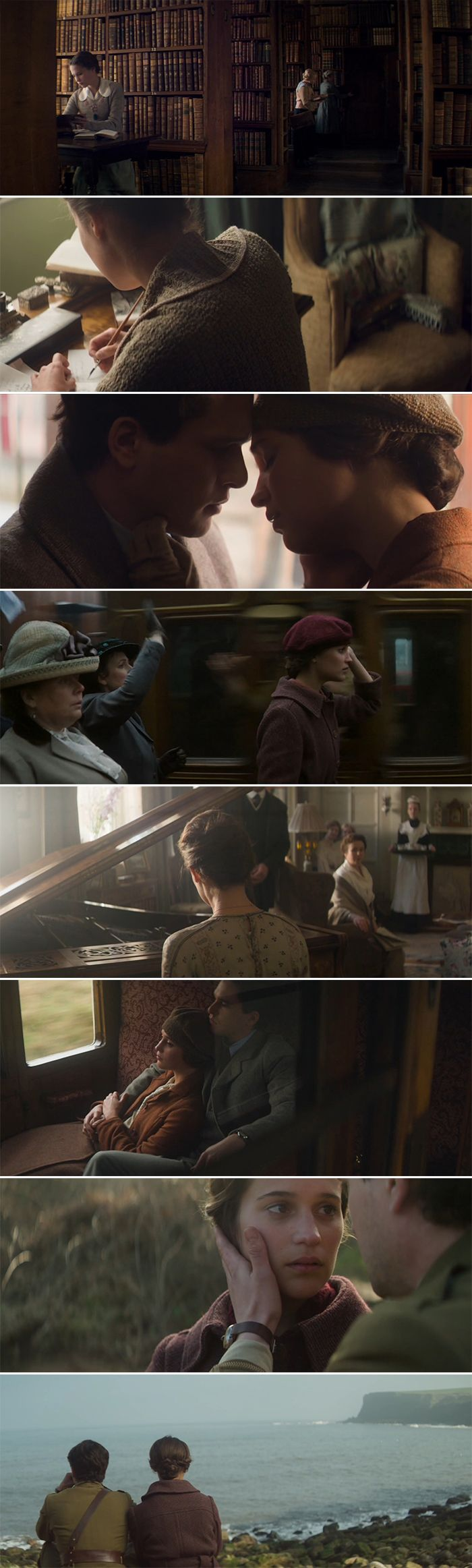 "Absolutely incredible cinematography in ""The testament of youth"". Each frame feels like a poem."