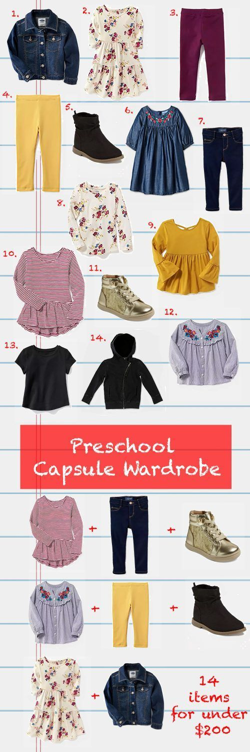 Preschool Capsule Wardrobe: Back to School Outfits (Lipgloss and Crayons)