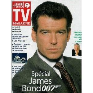 Spécial James Bond 007 : interview de Pierce Brosnan, dans TV Magazine Ouest-France n°16737 du 19/11/1999 [couverture et article mis en vente par Presse-Mémoire]