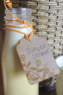 Homemade Pumpkin Spice Coffee Creamer with REAL ingredients...none of that chemical Coffeemate garbage. This is definitely on the Fall list of things to try!
