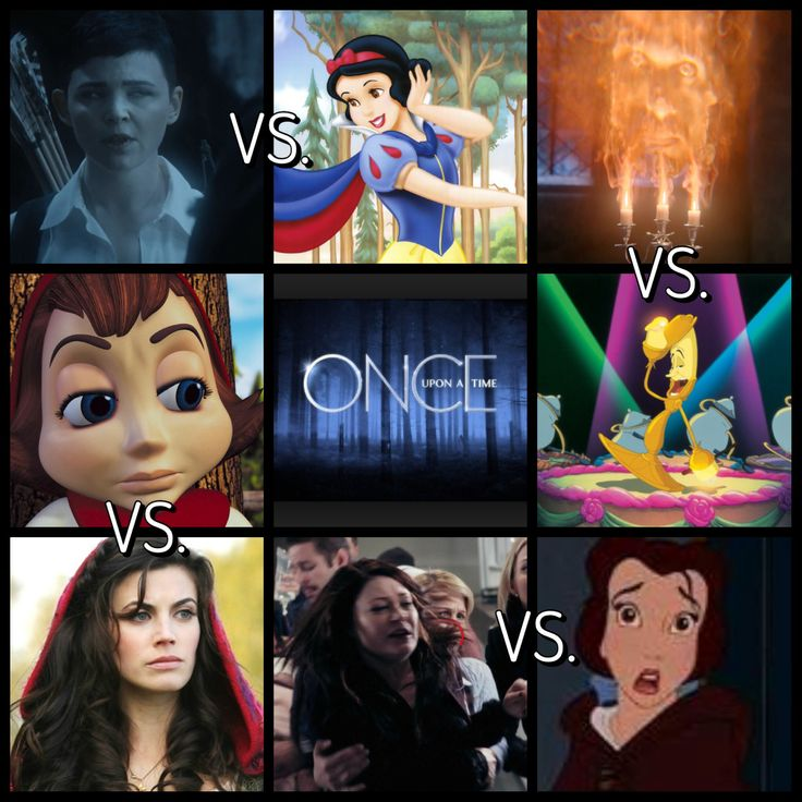 Once upon a time VS. Disney
