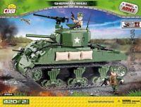 blocks 420 Cobi M4A1 Sherman Tank 2464 good as Lego panzer Small Army WW II toy