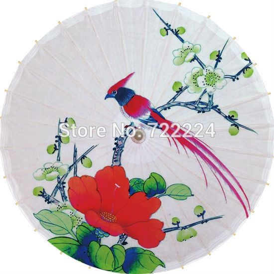 24.86$  Watch now - http://aliwdf.shopchina.info/go.php?t=2031662745 - Dia 84cm rainy parasol oilpaper umbrella chinese handmade craft  flowers with bird dance props waterporrf props women umbrella 24.86$ #buymethat