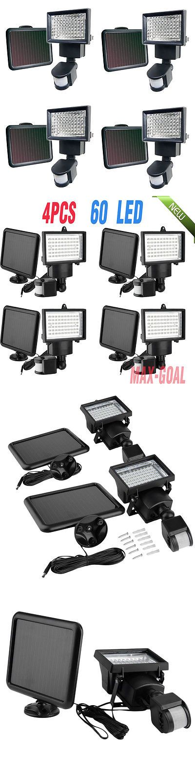 farm and garden: 4 Pack 60 Smd Leds Outdoor Solar Motion Sensor Security Flood Light Spot 80 100! BUY IT NOW ONLY: $63.99
