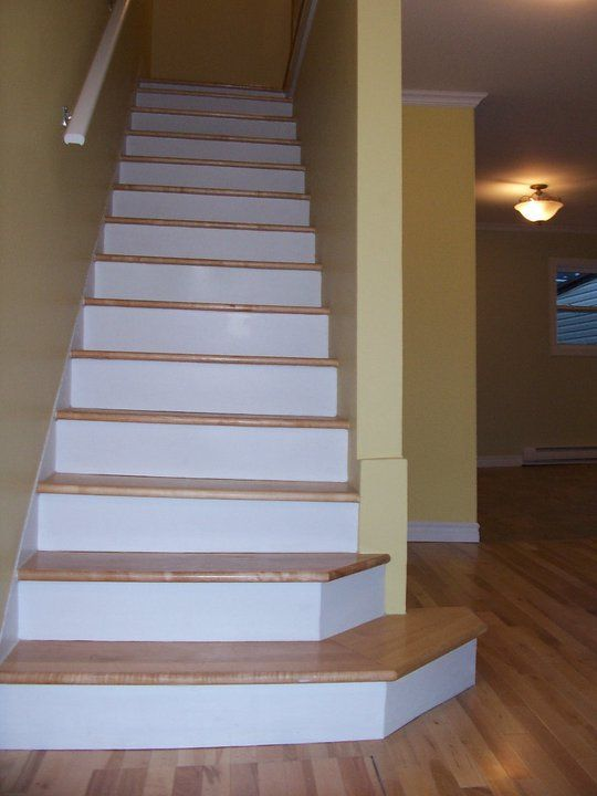 Hardwood Flooring On Stairs Trim Check out deck railing ideas at http://awoodrailing.com