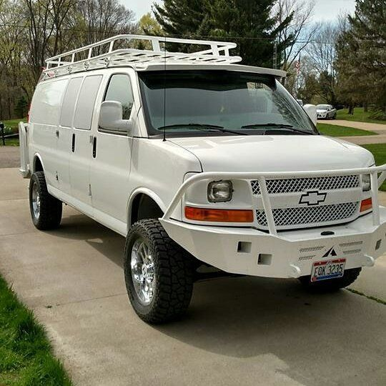 Bumper Cargo Truck : Best images about chevy vans with aluminess bumpers