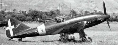 "One of the few Reggiane Re.2005 ""Sagittario"" employed by the 362nd Squadriglia for the Sicily's defense on July 1943. The aircraft, with the white name ""Sagittario"" on the fin, is in all dark green finish with the red Squadriglia's number (362) and the white individual number (5) and show, over the white fuselage stripe, the ""Spauracchio"" (Bogeyman), emblem of the 22nd Gruppo Caccia Terrestre (Land Fighter Group) to which were embedded the 362nd Squadriglia, only Italian Air Force's unit…"