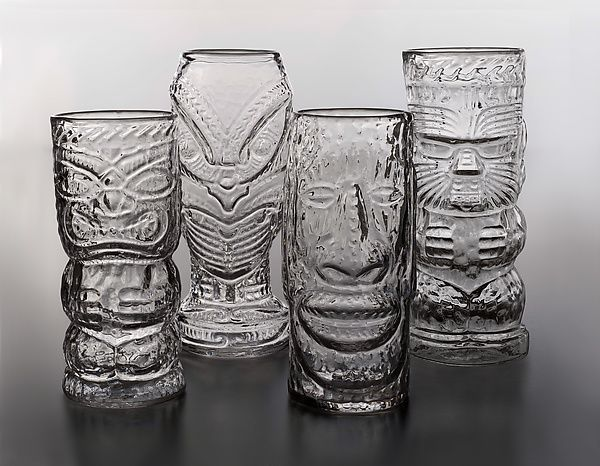 Glass+Tiki+Mugs by Andrew+Iannazzi: Art+Glass+Drinkware available at www.artfulhome.com