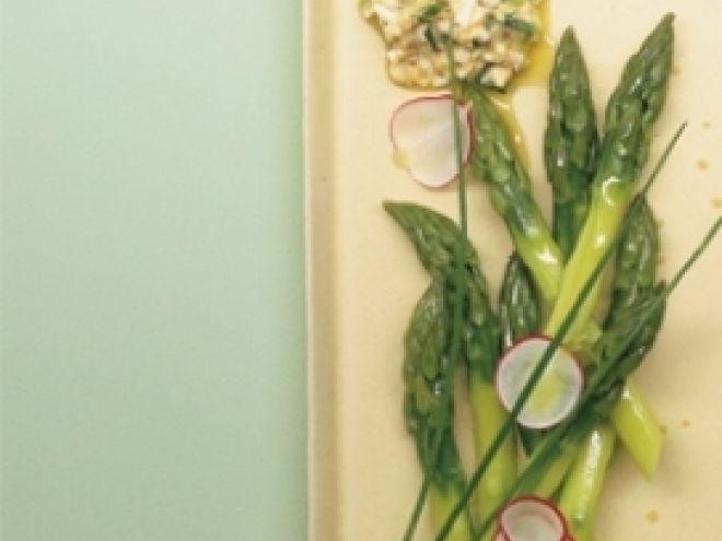 Ricetta Antipasto : Asparagi al vapore con vinaigrette all'uovo da Red_alessia_red