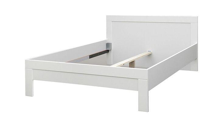 Doppelbett weiß  Bett SNOW Doppelbett Jugendzimmer in weiß matt 140x200 cm | bett ...