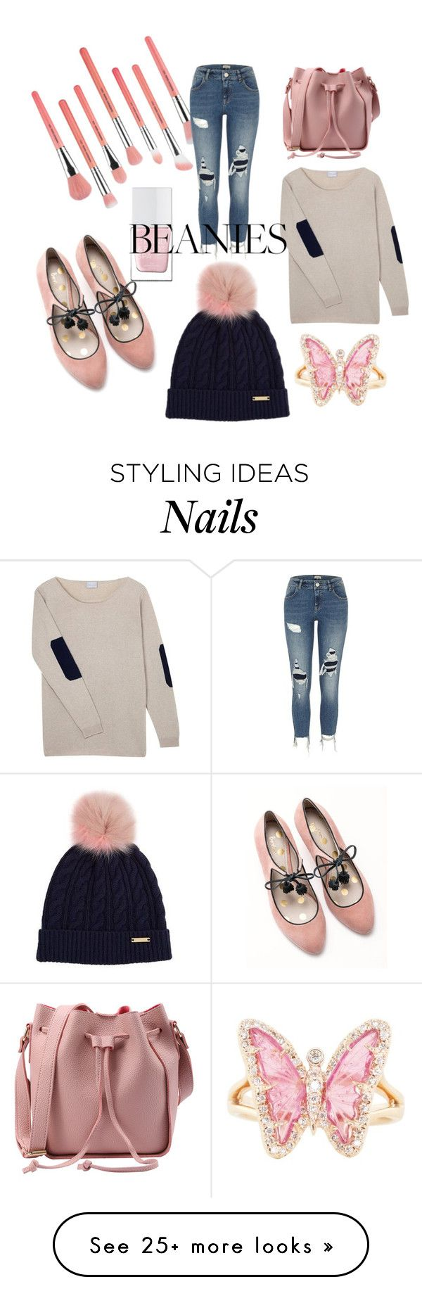 """Beanie Time"" by amygirl49 on Polyvore featuring Boden, Bdellium Tools, The Hand & Foot Spa, Burberry, Orwell + Austen, River Island and Luna Skye"