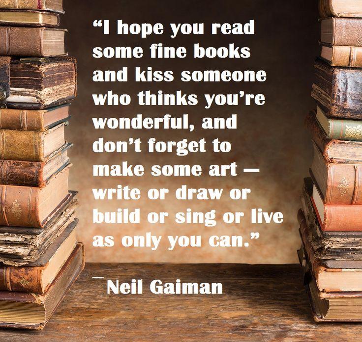 Read fine books and make art