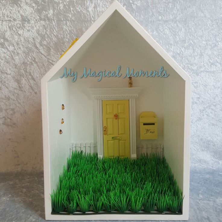 This Yellow themed Elf House will bring magic into your home Your pack will come with Handmade Wooden Display HouseYellow Elf DoorYellow Mail BoxWhite Picket FenceLittle Garden - Plain GrassSmall Yellow Elf Dust3 Humble Bumble BeesYellow Glow in the Dark DragonflyThe Wooden Display House comes
