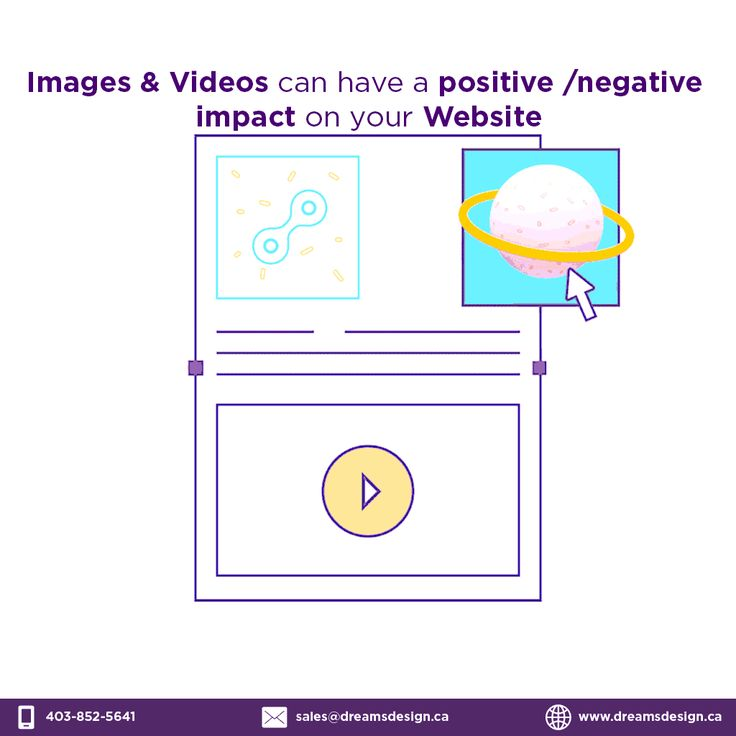 Image & Video can have a positive/negative impact on your website. #website #webdesign #webdev #FridayFeeling #DreamsdesignCA #web #design