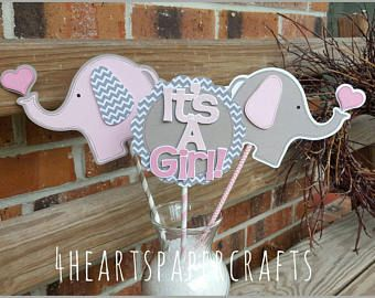 Elephant Centerpiece. 4 Piece Elephant Baby Shower