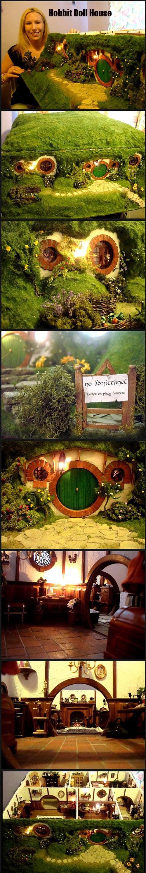 Hobbit dollhouse. Brilliant!