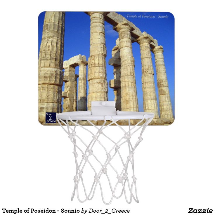 Temple of Poseidon - Sounio Mini Basketball Hoops