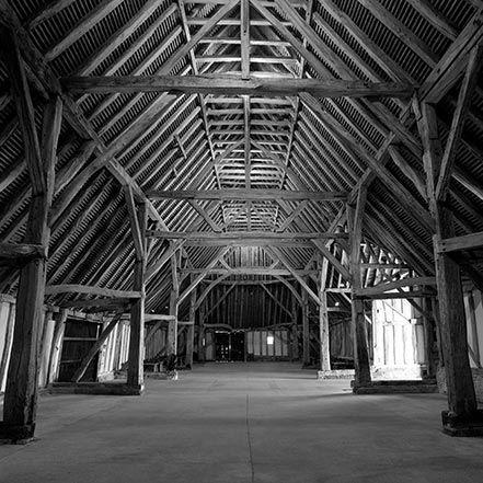 Material Matters: Wood #manser #wood #timber #oak #barn #truss #lattice