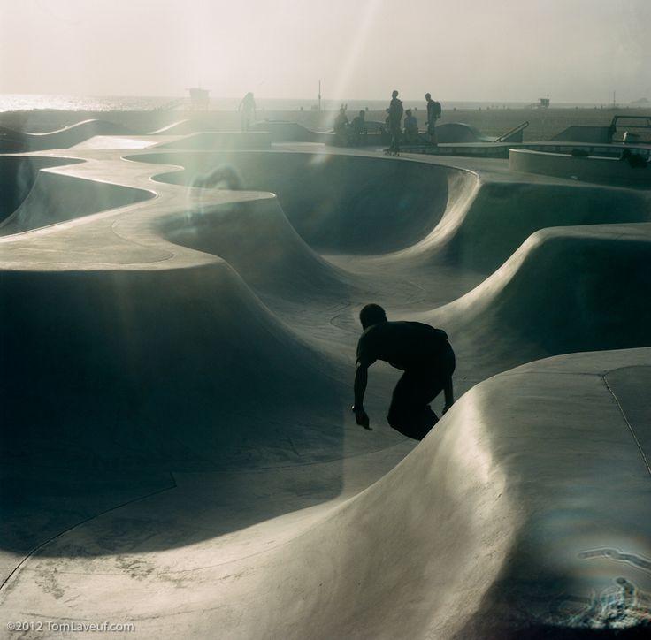 Venice Beach skate boarding
