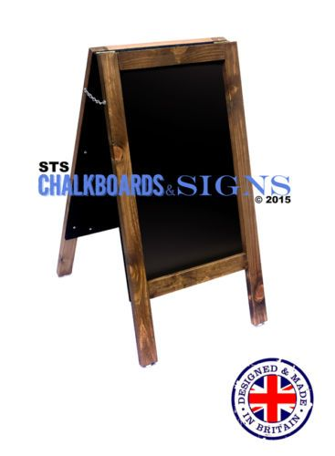 WOODEN A-BOARD MADE IN UK FROM UK WOOD