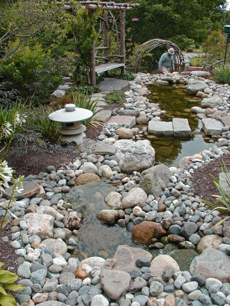 32 best images about rain gardens rock beds on pinterest for Rock garden bed ideas