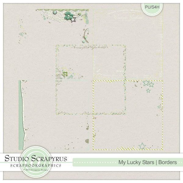 My Lucky Stars | Borders by Scrapyrus Designs