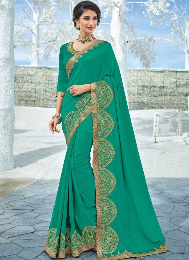 c67a33e575b5cf Buy Embroidered Art Silk Saree Online