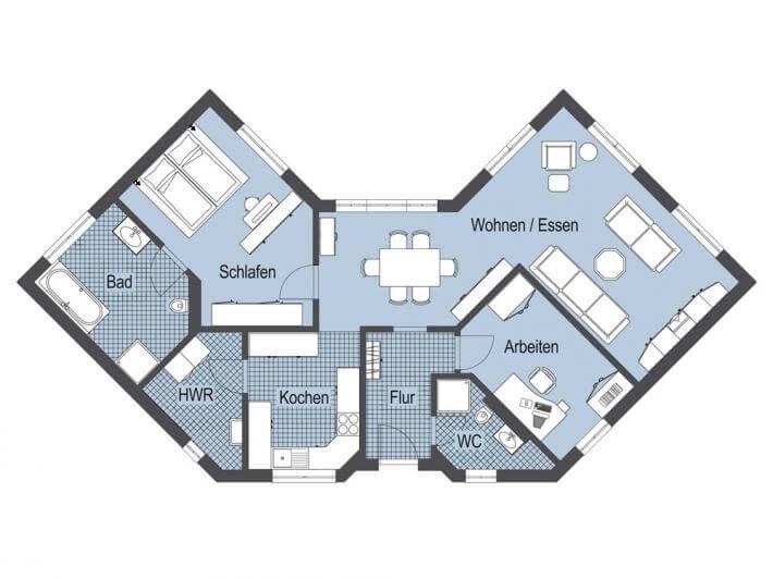 Haus u form grundrisse wohn design for Haus u form