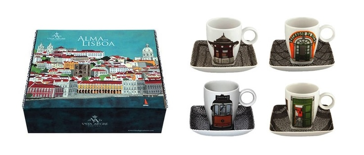 ALMA DE LISBOA design by Beatriz Lamanna - Set 4 Coffee Cups and Saucers