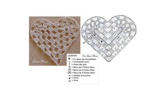 Coeurs en dentelle , modèles et grilles à imprimer !