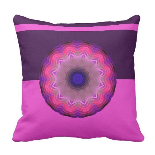 Mandala Throw Pillow by www.zazzle.com/htgraphicdesigner* #zazzle #mandala #pillow #abstract #gift #gifttidea #cushion