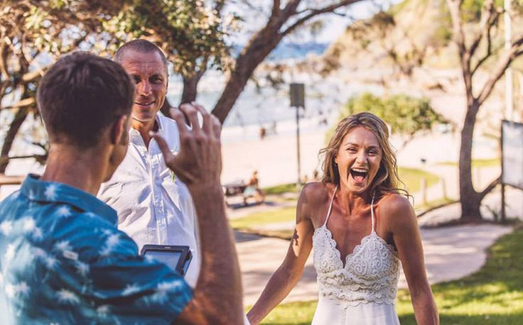 Byron Bay Wedding Celebrant - Benjamin Carlyle. Wategos Beach Elopement. Blue Tulip Imaging.