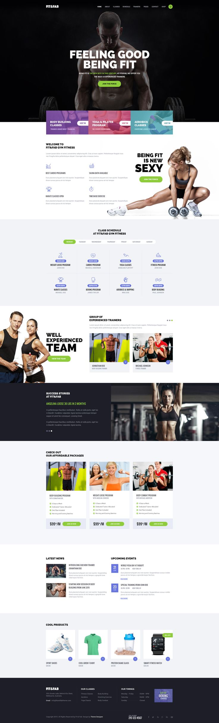 35 Fitness Website Designs | Inspiration #12