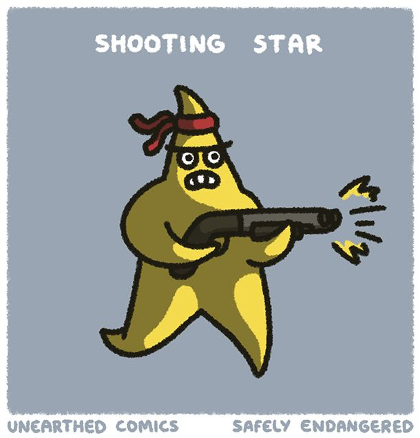 Fan art from Safely Endangered about shooting stars | Unearthed Comics