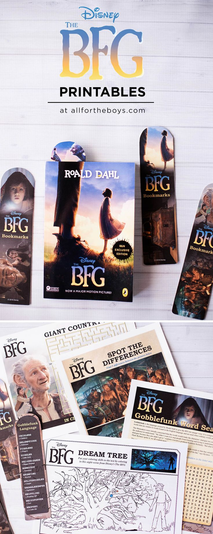 The BFG printable bookmarks, coloring & activity pages                                                                                                                                                                                 More