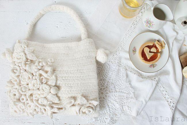 Tutorial borsa a uncinetto con lana da infeltrire #crochet #handmade