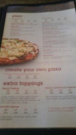 Menu offerings, Santa Lucia Pizza Winnipeg  |  4 St Mary's Rd, Winnipeg, Manitoba, Canada