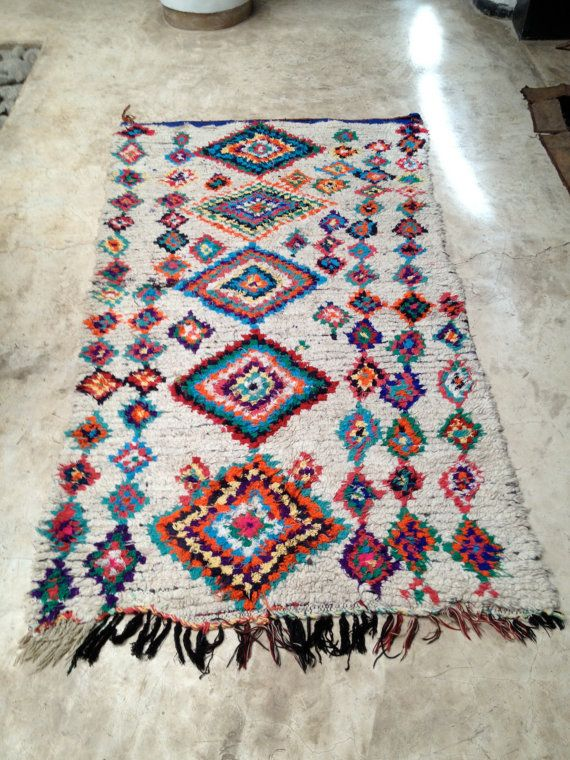 Vintage Moroccan Rug Boucherouite Rugs Carpets Pinterest And Interiors