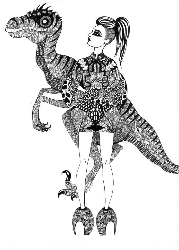 Kunst plakat // Limited edition art print // 'Raptor Lady'by Ida Svenungsson