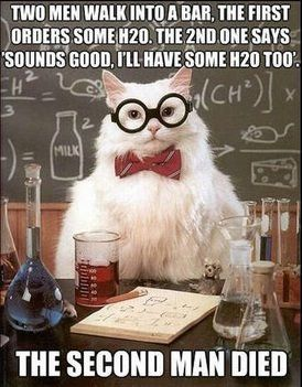 H2O joke from Chemistry Cat