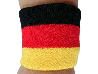 GERMANY GERMAN COUNTRY FLAG WRISTBAND SOCCER SPORTS