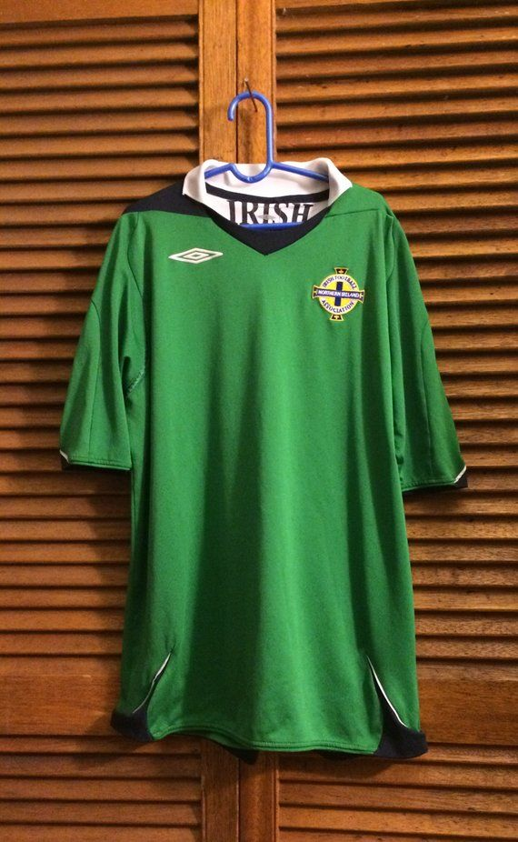 d3cfc17ee0 UMBRO 1990s Irish Football Association Soccer Jersey Northern Ireland Youth  XL Youth 12/14 Jersey | Youth/Children Vintage and Newer Clothing | Soccer,  ...